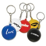 Stress Ball W/ Key Chain - 1 3/16