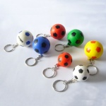 Soccer Stress Ball W/ Key Chain - 1 3/16
