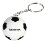 Soccer Stress Ball W/ Key Chain - 1 9/16