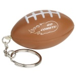 Football Stress Ball W/ Key Chain - 1 3/16