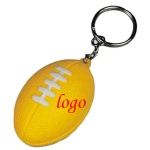 Football Stress Ball W/ Key Chain - 1 9/16