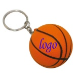 Basketball Stress Ball W/ Key Chain - 1 9/16