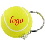 Tennis Stress Ball W/ Key Chain - 1 3/16