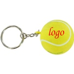 Tennis Stress Ball W/ Key Chain - 1 9/16