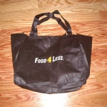 Black 80gsm Non-woven Polypropylene Shopping Tote Bag