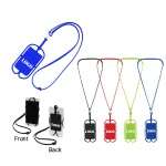 Stretchy Mobile Device Pocket / Silicone Lanyard With Card Sleeve