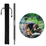 Pocket bellow, Stainless steel Collapsible Fire Blower Pipe