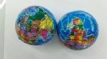 Relieve Stress Ball with map of globe